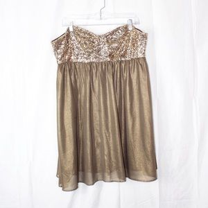 Marilyn Monroe Strapless Baby Doll Sequins Dress